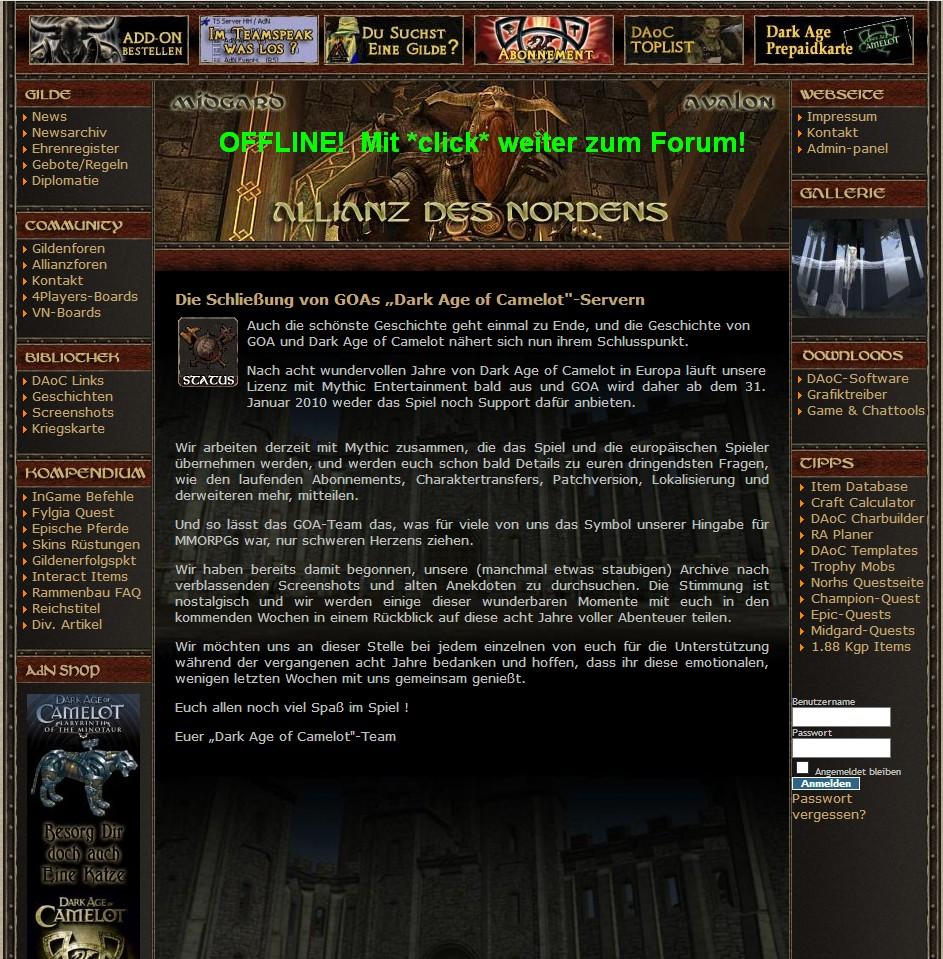 Allianz des Nordens - Dark Age of Camelot - Portal